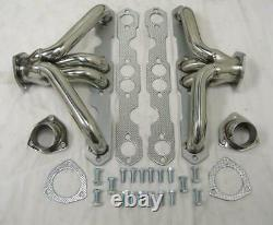 1955 1956 1957 Small Block Chevy Stainless Steel Shorty Exhaust Headers Tri5 SBC