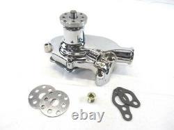 1955-85 Small Block Chevy 350 Aluminum Short Water Pump Chrome K71004C