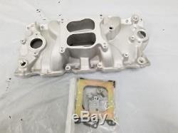1957-1995 Small Block Chevy Satin Aluminum Intake Manifold SBC 283 327 350