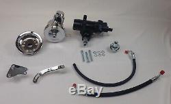 1958 -1964 Chevrolet 500 power steering conversion 500 series small block chrome