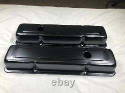 1958-79 SBC Chevy 350 Black Engine Dress Up Kit Short Valve Covers Air Cleaner