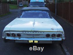 1964 Chevrolet Impala Convertible 283 v8 small block Unique Factory R. H. D