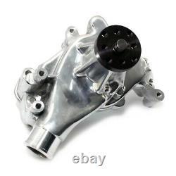 #1 Polished SBC Small Block Chevy 305 327 350 400 Long Style Aluminum Water Pump