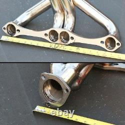 262-400 Sb Stainless Steel Tight Fit Angle Plug Header Exhaust For Small Block