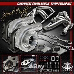 2 X T04e Turbocharger+t3/t4 Ss Turbo Manifold Chevy Small Block Sbc/c10/suburban