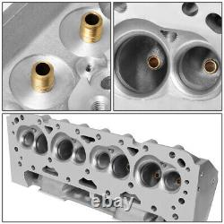 2x Aluminum Bare Straight Plug Cylinder Head for Small Block Chevy SBC 302 350