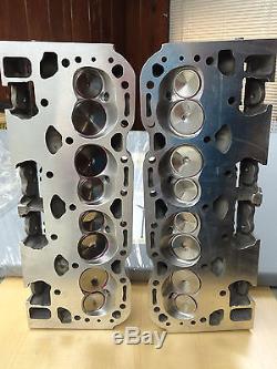 350-5.7 (2) Chevy Aluminum Corvette Lt1 Cylinder Heads Hollow Big Valve10207648