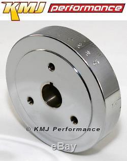 350 Small Block Chevy SBC Chrome Fluid Crankshaft Damper Balancer Neutral Int
