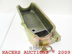 55-79 Small Block Chevy 7qt Circle Track Oil Pan and Pickup Tube Zinc 350 400
