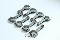 5.7'' H-Beam Connecting Rods 4340 steel For Small Block Chevy SBC 350, 7/16