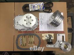 671 SBC Small Block Chevy Dyer's Nostalgia Triple V-Belt Drive Kit Unpolish New