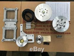 671 Small Block Chevy Dyer's Blower Drive Kit Satin New 6-71 with Carb Dual Top