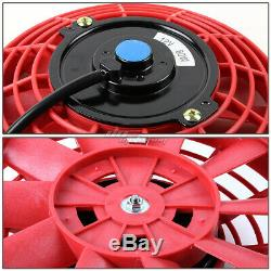71-88 Chevy Small Block Camaro Sbc 3-row Aluminum Racing Radiator+x2 Red Fans
