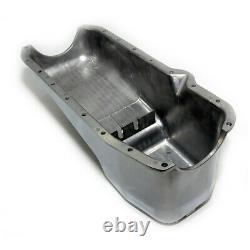80-85 SBC Chevy Retro Finned Polished Aluminum Oil Pan 305 350 5.7 Small Block
