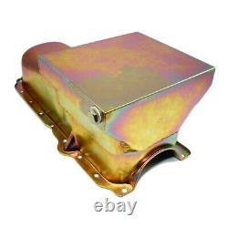 86-02 SBC Chevy Zinc Drag Race Style Oil Pan 7qt 305 350 5.0 5.7 Small Block
