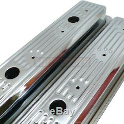 87up SBC Chevy Chrome Center bolt Valve Cover Kit 5.0 305 5.7 350 TBI Vortec