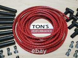 8mm Vintage Cloth Covered Spark Plug Wire Kit for ELECTRONIC IGNITION SYSTEMS RD