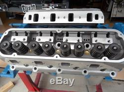 Aluminium Cylinder Heads Small Block Chev Complet Includes 7/16 Roller Rocke