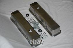 Aluminum Small Block Chevy Smooth Tall Recessed Valve Covers 283 302 305 350 400