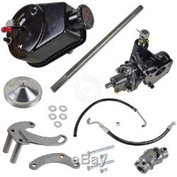 BORGESON Short Neck Water Pump Power Steering Conversion Kit for GM Small Block