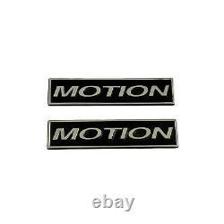 Baldwin MOTION Emblem Set of 2 Big/Small Block Chevy Ansen USA (NOS)