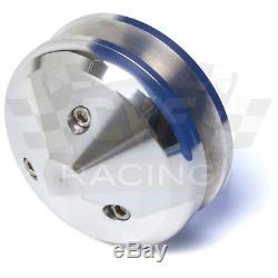 Billet Aluminum Pulleys Chevy Small Block V-Belt Kit 350 LWP SBC Polished 2V