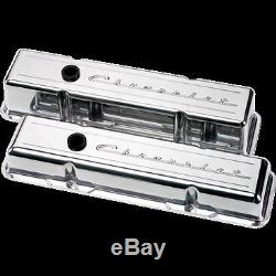 Billet Aluminum small Block Chevy Tall Valve Cover chevrolet 350 327 40 script