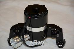 Black Small Block Chevy 305 327 350 400 Electric High Volume Water Pump SBC