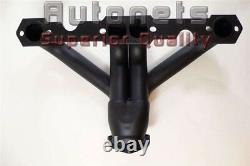 Black Street Hot Rat Rod Hugger Shorty Headers Small Block Chevy SBC 265-350