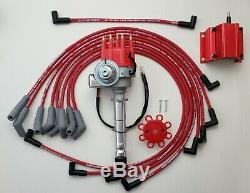CHEVY 396 427 454 BIG BLOCK SMALL CAP HEI DISTRIBUTOR + COIL + 8.5mm PLUG WIRES