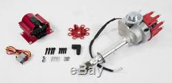 CHEVY SMALL BIG BLOCK Ready-To-Run RED Small Cap HEI Distributor With50K Volt Coil