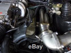 CX Header + Turbo Elbow For 82-92 Chevrolet Camaro Small Block Motor SBC T4