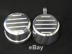 Chevrolet Chevy Finned Small Block Tall Billet Engine Dress Kit 12 Oval Air 350