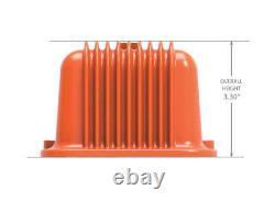 Chevrolet SBC Orange Valve Covers Finned Chevrolet Script Aluminum 283 327 350
