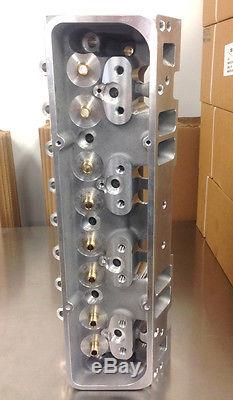Chevy 205cc Aluminum Cylinder Heads SBC 262-400 V8 2.02 1.60 Bare Pair