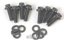Chevy 283 327 305 350 400 small block tall valve cover kit BOWTIE ORANGE STEEL