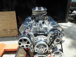 Chevy 383 Roller Stroker Engine & Serpentine Kit Turn Key 450 HP Cr # Ehrg-65