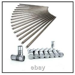 Chevy GM V8 Small Block 305 350 Push Rods Pushrods+LIFTERS 16 7.794 Non Roller
