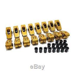 Chevy Small Block 7/16 1.6 Ratio Aluminum Roller Rockers 350 400 Self Aligning