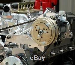 Chevy Small Block Polished Aluminum Long Water Pump 508 A/C Compressor Bracket