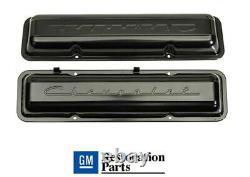 Chevy Small Block Valve Covers 59-67 SBC Valve Covers Chevrolet Script