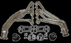 Chevy Truck Header Set ceramic Coated Steel Chevy GMC Small Block c 10 long 350