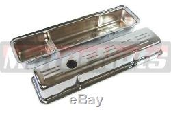 Chrome SB Chevy Dress Up Kit 350 Logo Short Valve Covers Air cleaner Small Block