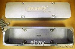 Dart 68000015 SB Chevy Inverted Rail Cast Aluminum Valve Covers WithHdw, Pair