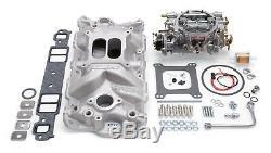 Edelbrock 2021 Performer EPS Intake Manifold and Carburetor Kit 2021 2701 1406