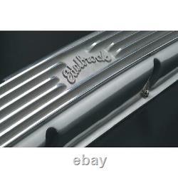 Edelbrock 4145 Small Block Chevy SBC 327 350 400 V8 Retro Finned Valve Covers
