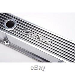 Edelbrock 4262 Elite Series Valve Cover Set, Small Block Chevy 305 350 400 SBC
