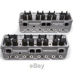 Edelbrock 5085 E-210 210cc Aluminum Cylinder Heads 64cc Chevy Small Block