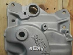 Edelbrock C3BX 4bbl Intake manifold Chevy sbc aluminum vintage gasser drag race