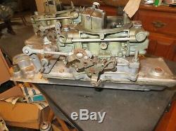 Edelbrock Small Block Chevy Crossram Dual Quad Carb Intake Manifold Holley